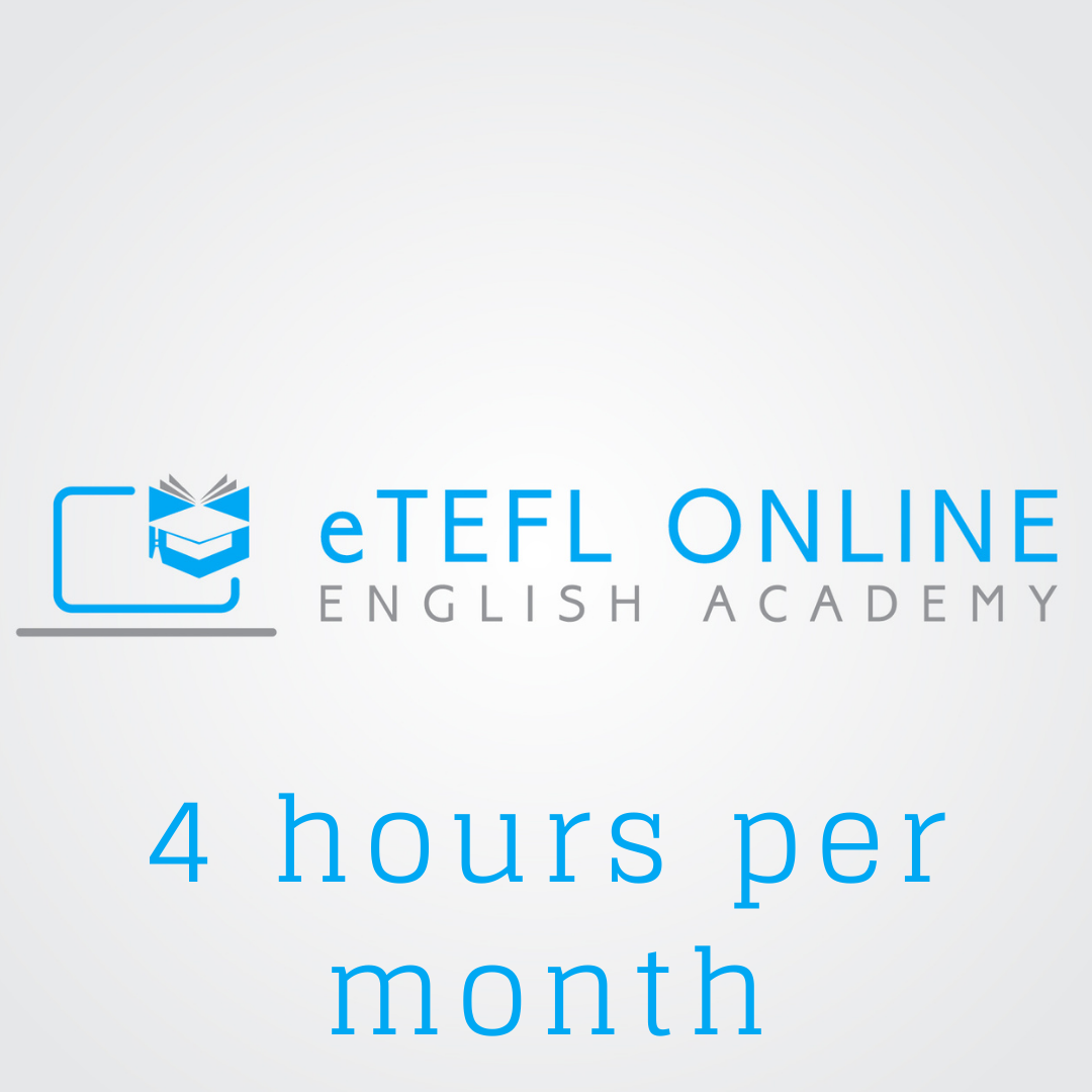 Online English Lessons – 4 hours per month - eTEFL Online