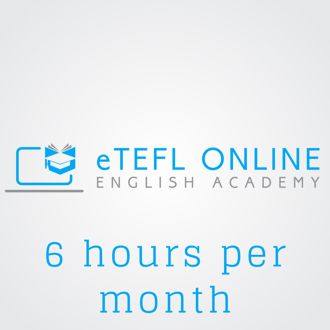 Online English Lessons – 6 hours per month - eTEFL Online