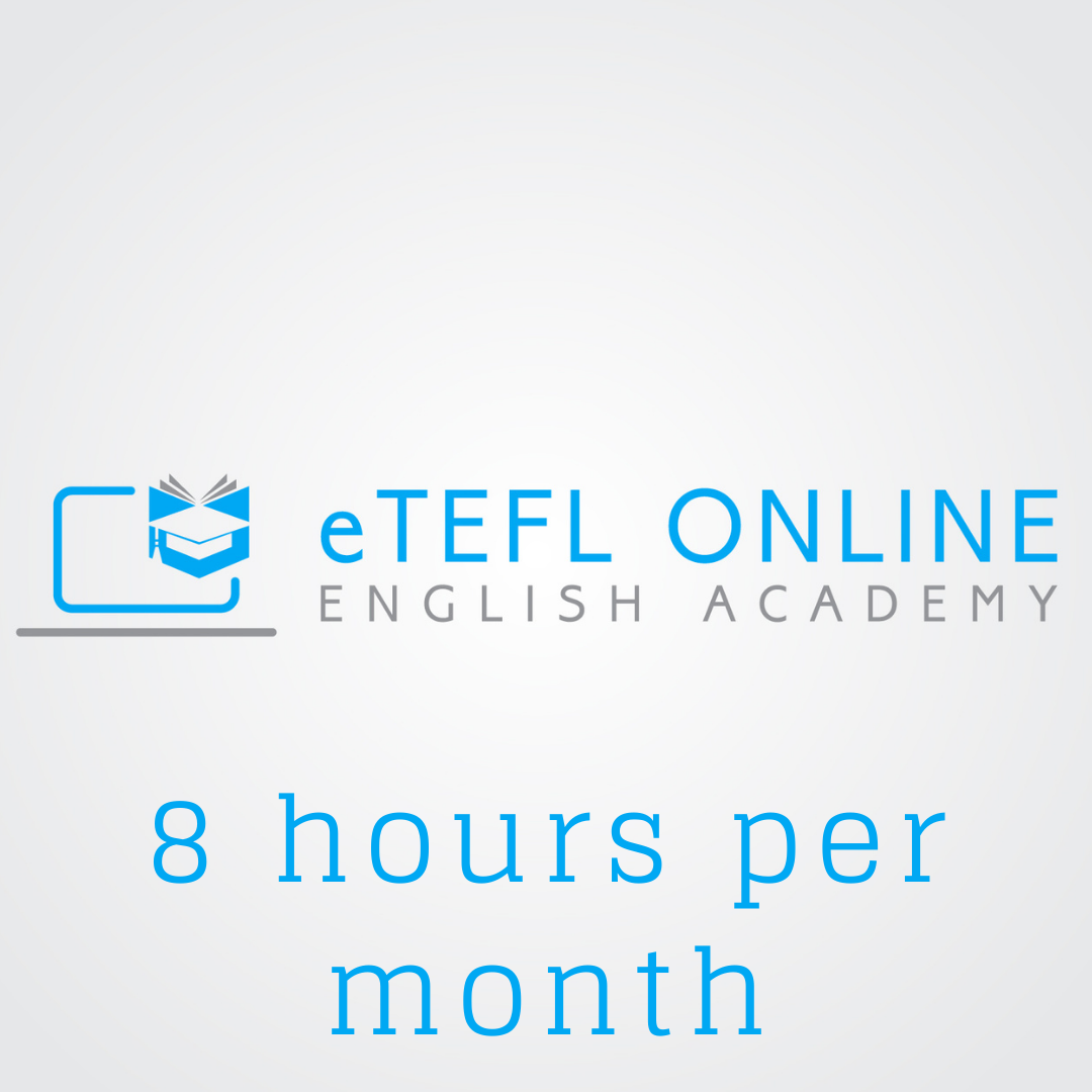 Online English Lessons – 8 hours per month - eTEFL Online