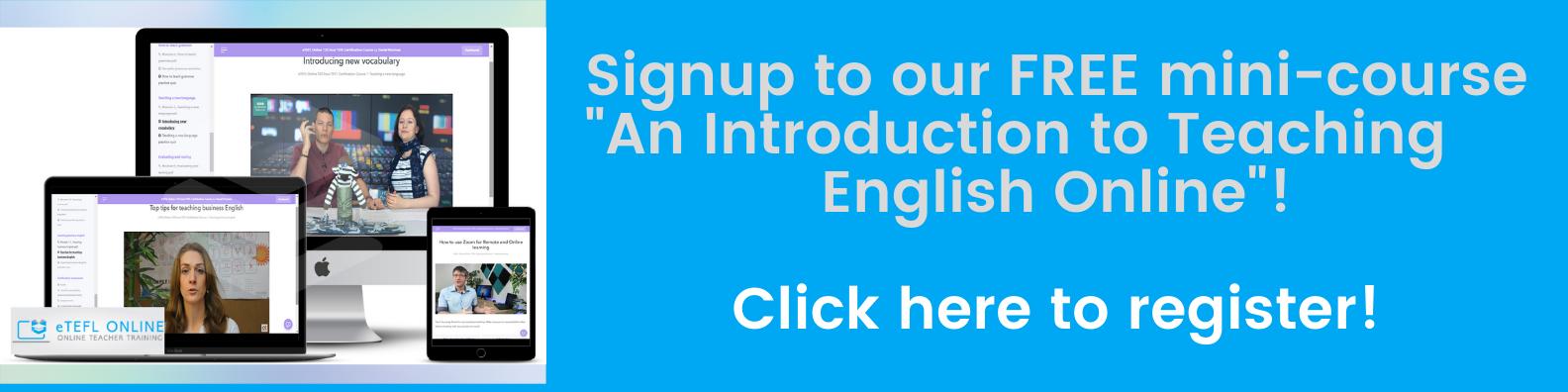 TEFL/TESOL Courses - eTEFL Online